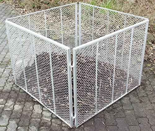 Baumarktplus Komposter Feuerverzinkt Metallkomposter aus Streckmetall Gartenkomposter Kompostbehälter 100x100x80 cm